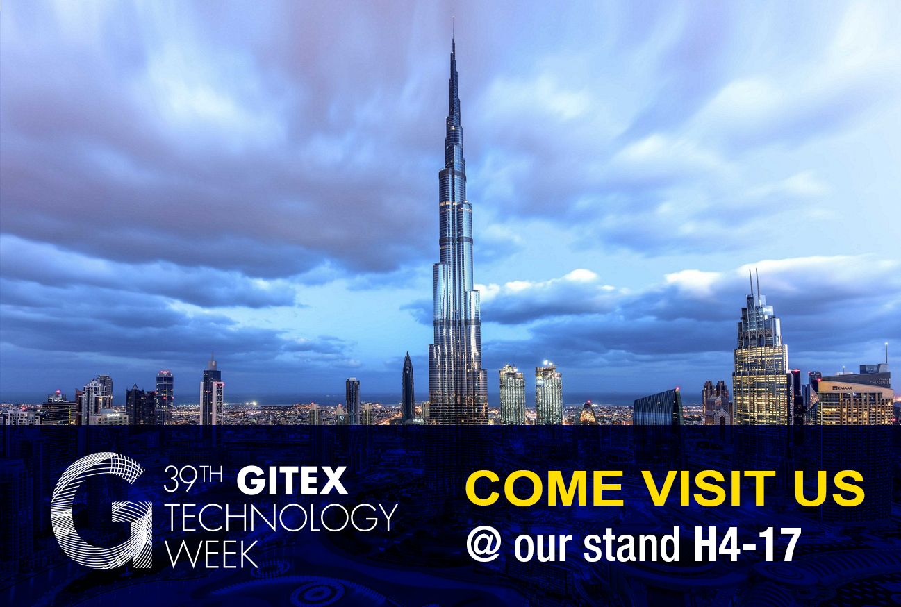 Come visit us at GITEX Technology Week 2019